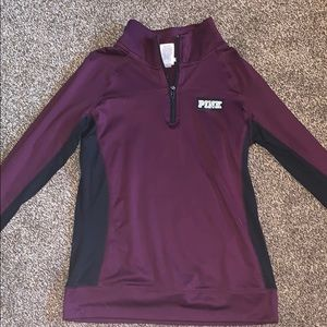 Quarter zip up from pink
